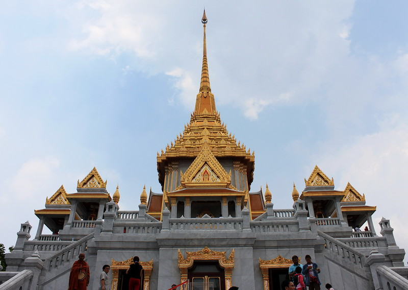 Recently completed temple at Wat Trimit