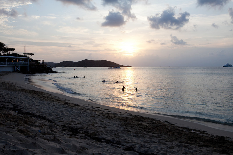 View of Sunset from Grand Case Beach Club