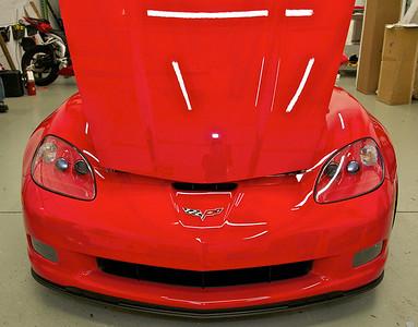 2010 Red Chevy Corvette Grand Sport