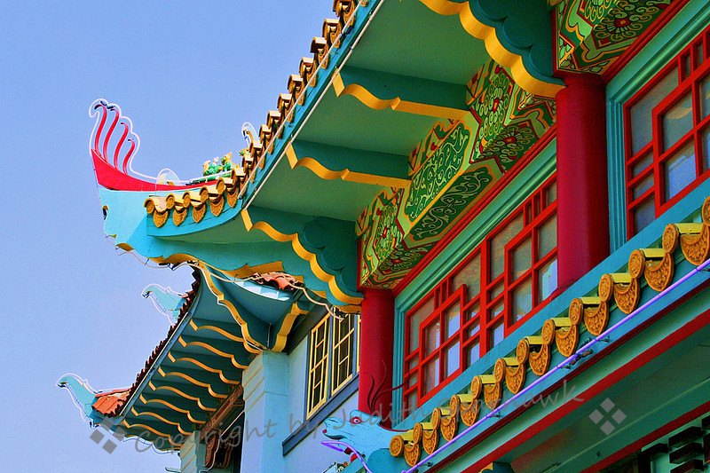 Chinatown Rooftops ~ Roof details, Chinatown, Los Angeles, California