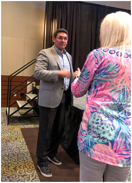 Panthers Coach Ron Rivera speaks as Charity function in Wilmington