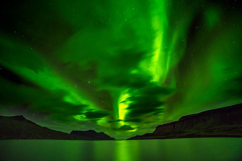 Northern Lights through Clouds