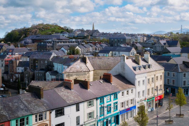 Caernarfon from the Castle