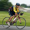 A biker participates in the Lakewood Valley Triathlon in Winterville, KY. 2010.