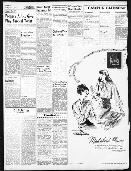 Daily Trojan, Vol. 38, No. 58, December 06, 1946
