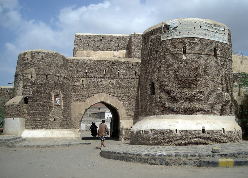 a gate into the old city of Zabid, another Yemini World Heritage site