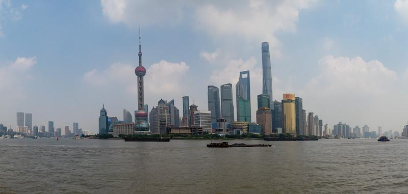 Skyscrapers of Shanghai. Panorama.