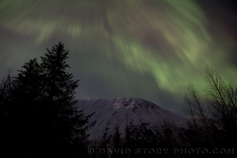 Aurora over Avalanche Acres.
