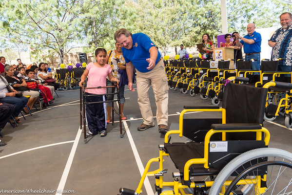 2017 Rotary Club Oaxaca Mexico Wheelchair Distribution