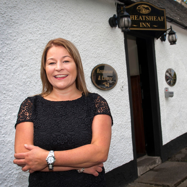 Marnie Thompson,The proprietor of The Wheatsheaf Inn ,in Symington,Ayrshire.