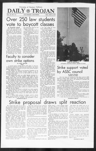 Daily Trojan, Vol. 61, No. 119, May 06, 1970