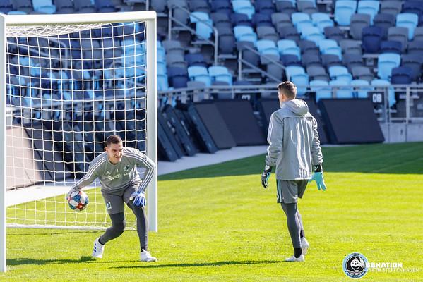 First Team Practice At Allianz Field