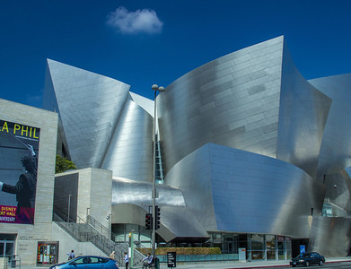 Disney Concert Hall and Downtown LA