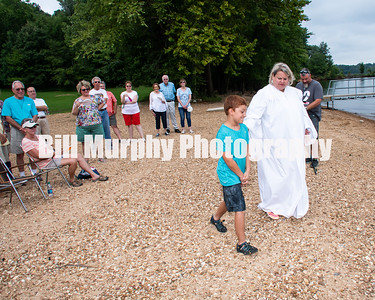 2019 First Christian Church Service At The Lake Baptism Ceremony