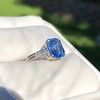 Vintage-Inspired and Contemporary 3.03ct Blue Sapphire Ring (GIA, No-Heat)) 2