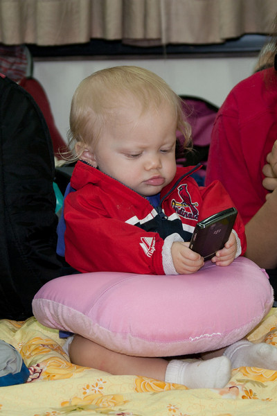 Isn't she too young to be texting already?