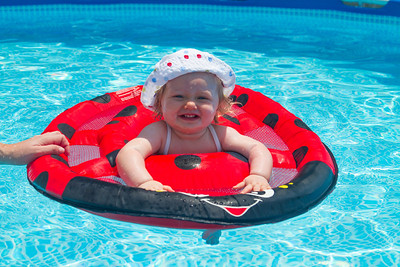 Mackenna's First Swim