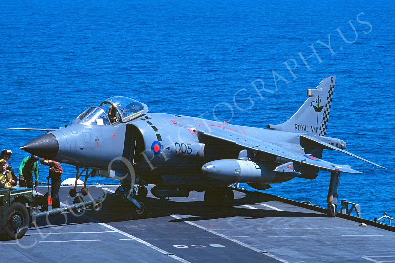 BAE Harrier 00007 BAE Harrier British Royal Navy July 1989 via African Aviation Slide Service.JPG