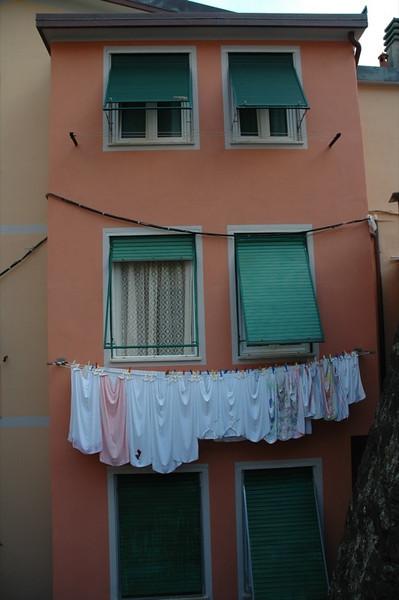 Laundry Day in Riomaggiore - Cinque Terre, Italy