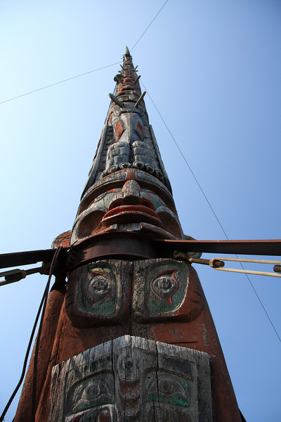 Apparently the world's tallest totem pole.
