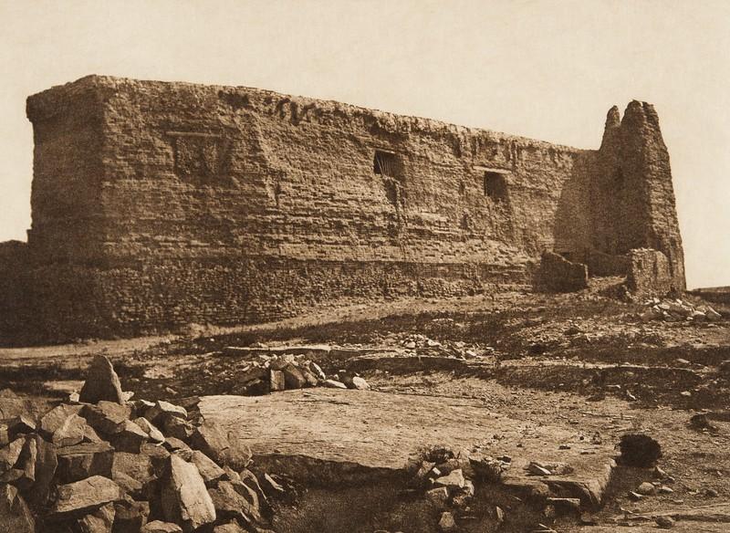 Crumbling walls of the old church - Acoma (The North American Indian, v. XVI. Norwood, MA, The Plimpton Press,  1926)
