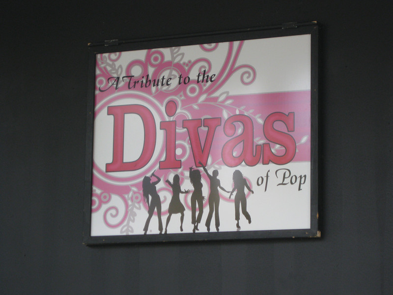 6:00pm Tribute to the Divas of Pop show.