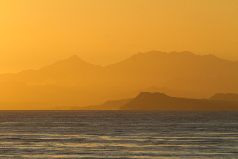 Morning view of mountain and sea - Mexico