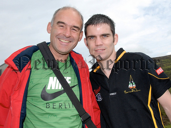 Boxer Bernard Dunne pictured with Damiean McCullough. 07W32S252