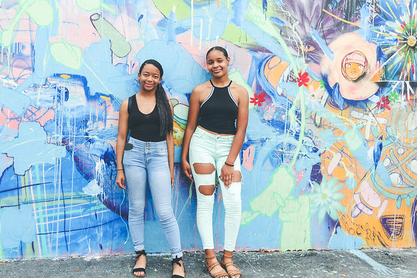The Asmins walking in Wynwood