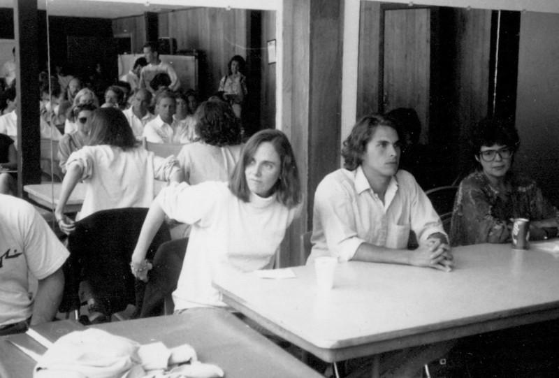 Tom Jenks, Bobbie Kinnell, Michale Chabon, Ginger Barber. Publishing panel. 1988.