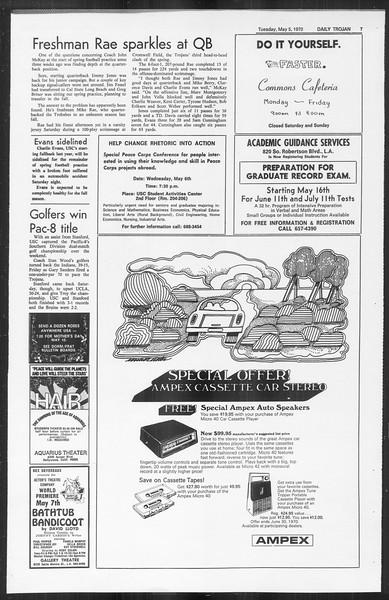 Daily Trojan, Vol. 61, No. 118, May 05, 1970