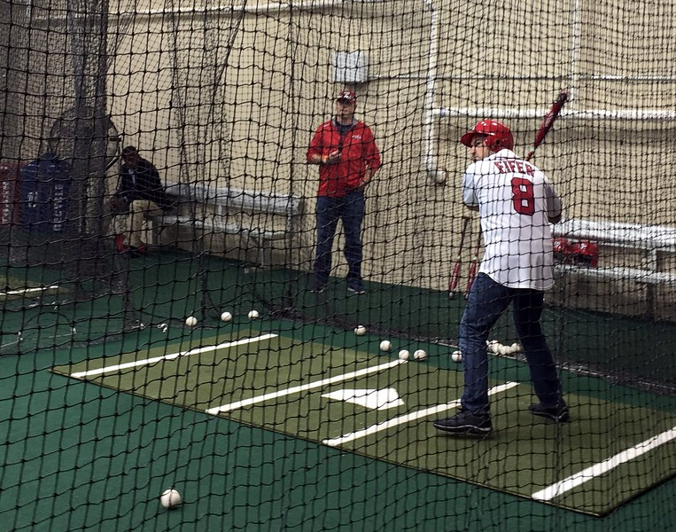 Craig takes batting practice (photo by Joseph Gruber)