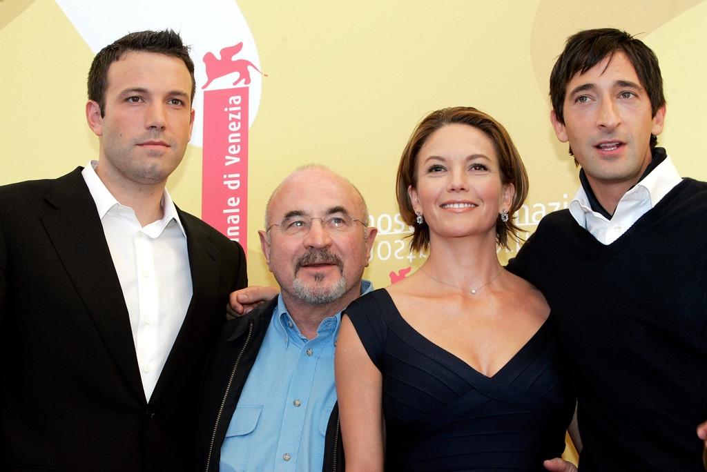 . From left, casting members Ben Affleck, Bob Hoskins, Diane Lane, Adrien Brody pose during a photocall to introduce their film \'Hollywoodland\' at the 63rd Venice Film Festival in Venice, August 30, 2006. (AP Photo/Luca Bruno)
