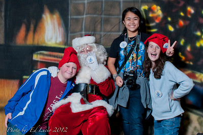 8th Grade Selling Pancakes plus Photo with Santa