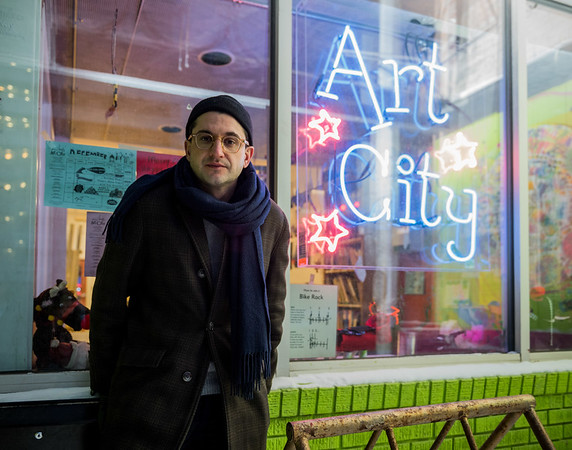DAVID LIPNOWSKI / WINNIPEG FREE PRESS  Managing Director for Art City, Josh Ruth, at Art City Wednesday December 26, 2018. A break in overnight resulted in the theft of the digital archives of all past kids' work, as well as electronics and cameras. Art City is hoping the digital archive will be returned.