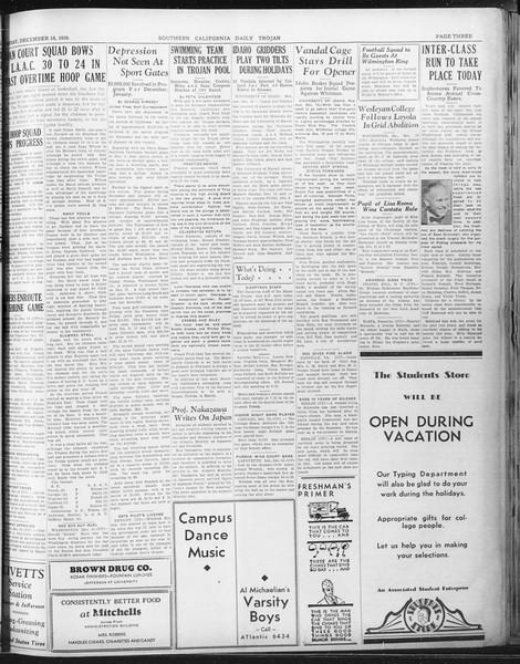Daily Trojan, Vol. 22, No. 64, December 16, 1930