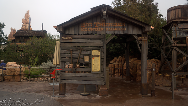 Disneyland Resort, Disneyland, Frontierland, Big Thunder Mountain Railroad, Big Thunder, New, Entrance, Structure