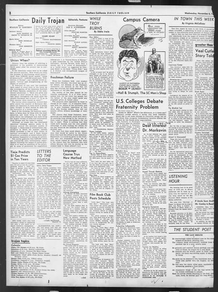 Daily Trojan, Vol. 32, No. 38, November 06, 1940