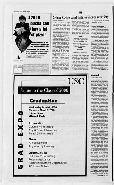 Daily Trojan, Vol. 139, No. 37, March 07, 2000