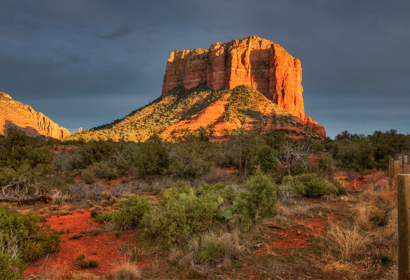 "Courthouse Butte. Sedona. 22"" x 15"""