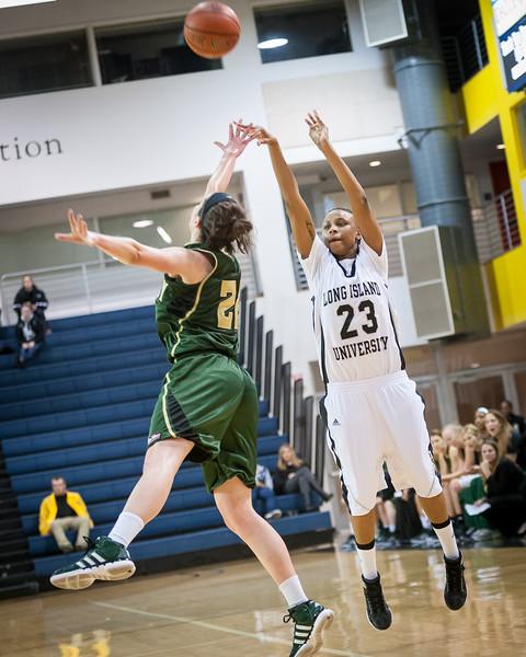 (NCAA Women's Basketball: Long Island University Brooklyn Blackbirds 69 v Cal Poly Mustangs 61, Wellness Center, Brooklyn, NY. December 14, 2011)