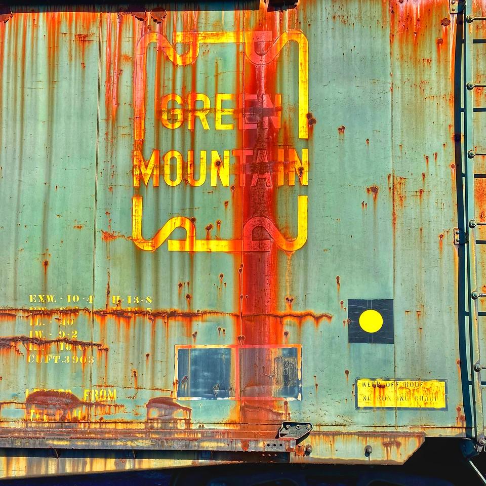 green mountain rusting boxcar - Steamtown national historical site - scranton pennsylvania
