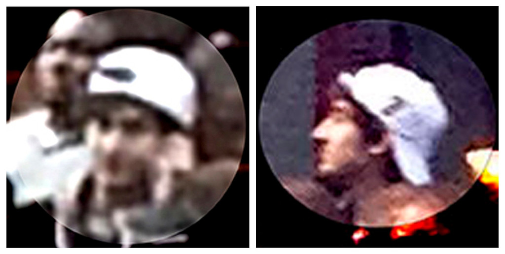 . A suspect wanted for questioning in relation to the Boston Marathon bombing April 15 is seen in handout photos during an FBI news conference in Boston, April 18, 2013.  REUTERS/FBI/Handout