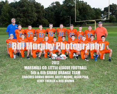 2017 5th & 6th Grade Orange Team, Marshall Co. Little League Football