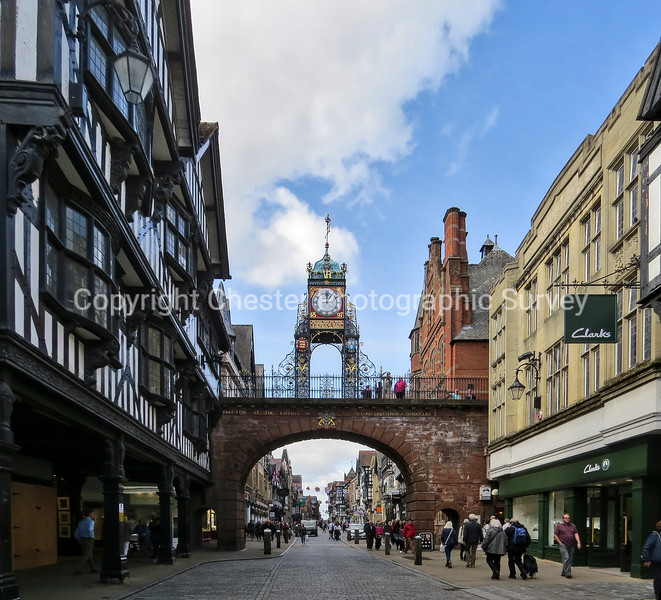 Eastgate, Clock, 2-6 and 1-3: Foregate Street