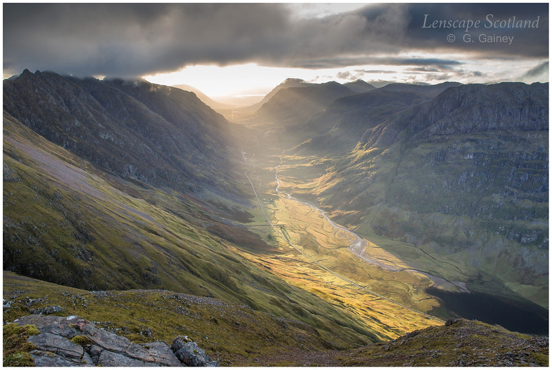 Early morning sunlight in Glen Coe