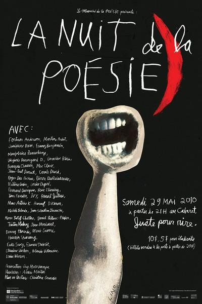 17.LINO La nuit de la poésie 61 x 91 Offset, 2010