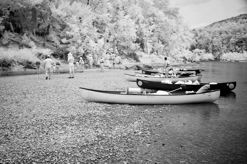 Some more infrared. Love the look of the canoes in IR.