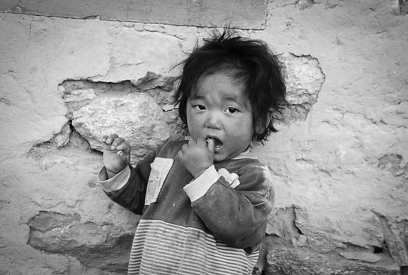 Child in Lukla