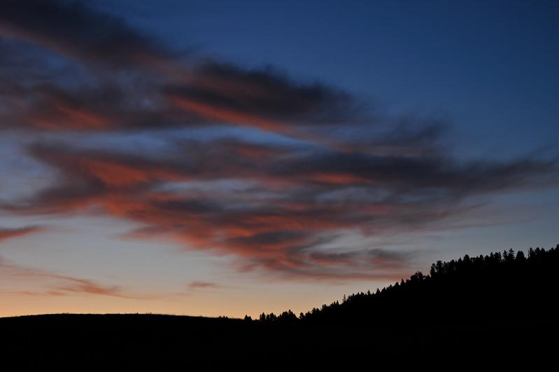 Near Devils Tower Wyoming--Sunrise.